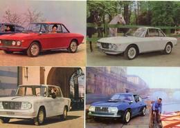 Lancia Fulvia  -  Lot De 4 Voitures/Automobiles  -  4 X Cartes Postales Modern - 4xCPM - Toerisme