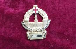 Distintivo Metallico D'epoca Vigili Urbani Milano Marcato Bomisa Raro - Police