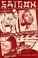 PARTITION SUZY SOLIDOR FRANCIS LOPEZ - SAIGON - 1948 - EXC ETAT COMME NEUVE - - Musique & Instruments