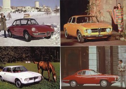 Alfa Romeo  -  Lot De 4 Voitures/Automobiles  -  4 X Cartes Postales Modern - 4xCPM - Turismo