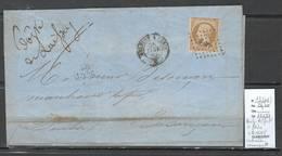 France - Lettre Yvert 13 -Ambulant Belfort à Paris - Boite De LAISSEY - Mention Manuscrite -1862 - Railway Post