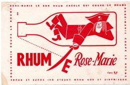 2 Buvards Rhum.  Rose-Marie. Le Bon Rhum Créole Et Rhum St.Esprit. 2 Photos. - Blotters