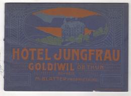 BEAU LIVRET HOTEL JUNGFRAU - GOLDIWIL OB THUN - SCHWEIZ - M. BLATTER PROPRIETAIRE - 1911 - 23 PAGES AVEC PHOTOS - Advertising
