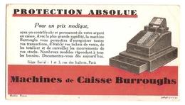 BUVARD - BURROUGHS - MACHINE DE CAISSE BURROUGHS - PROTECTION ABSOLUE Pour Un Prix Modique - Buvards, Protège-cahiers Illustrés