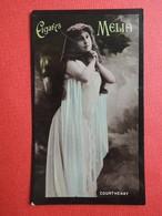Rare Chromo Photo. Cigares  MELIA.  Alger. Artiste. Femme. Erotisme.  COURTHENAY - Melia