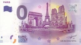 France - Billet Touristique / Souvenir 0 €uro - 2017 / PARIS . - EURO