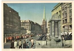 Hamburg Mönckebergstrasse Mit Strassenbahn - Autres