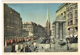 Hamburg Mönckebergstrasse Mit Strassenbahn - Sonstige