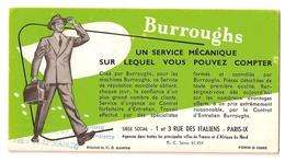 """BUVARD - BURROUGHS - """"UN SERVICE MECANIQUE SUR LEQUEL VOUS POUVEZ COMPTER"""" - Buvards, Protège-cahiers Illustrés"""