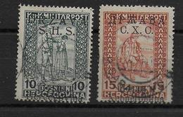 1919 - RARE YVERT 51a + 52a OBLITERES - COTE = 95 EUR - Usados