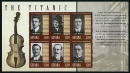 GUYANE Orchestre Du Titanic 6v (1306) Neuf ** MNH - Guyana (1966-...)