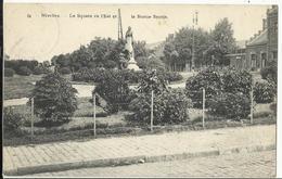 NIVELLES Le Square De L'Est Et La Statue Seutin 1914 - Nivelles