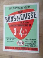 Banque De La Societe Generale De Belgique Bons De Caisse 1959 - Publicités