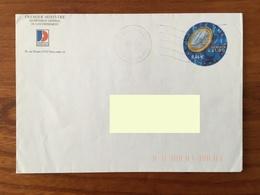 PRET A POSTER TSC Premier Ministre, Secrétariat Général Du Gouvernement - Timbre Demain L'Euro Oblitéré - Postal Stamped Stationery