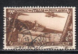 Rox 1932 Regno D'Italia Decennale Marcia Su Roma PA 50c Usato - 1900-44 Victor Emmanuel III