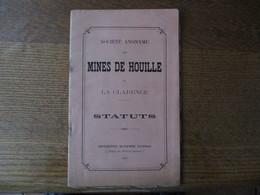 MINES DE HOUILLE DE LA CLARENCE  STATUTS 1895  SIEGE A CALONNE-RICOUART PAS DE CALAIS  31 PAGES IMPRIMERIE D'ARRAS - Documents Historiques