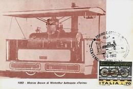Torino 8-6-1982 CENTENARIO TRASPORTI EXTRAURBANI - Esposizioni Filateliche