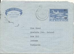 Leshoto Aerogramme Sent To Tanzania 5-9-1975 - Lesotho (1966-...)