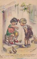 CPA GERMAINE BOURET En 1948 - Du Vrai Café ! Moulin à Café - Bonne Fête - Bouret, Germaine