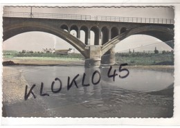 Espagne - MONZON - Puente Del F. C. Sobre Rio Cinca - Au Loin Les Usines De Cimenterie ?- CPSM Couleur N° 19 Généalogie - Huesca