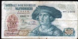Belgique, Billet De 500 Francs, Annee 14.05.71 - [ 2] 1831-... : Reino De Bélgica