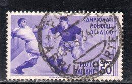 Rox 1934 Regno D'Italia Decennale Mondiale Calcio 50c  Usato - 1900-44 Vittorio Emanuele III