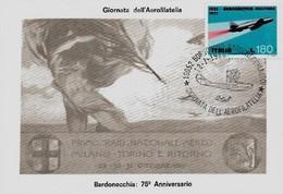 Borgonovo 12-7-1986 GIORNATA DELL'AEROFILATELIA - Esposizioni Filateliche