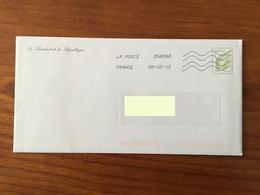 PRET A POSTER TSC Voeux Du Président De La République - Timbre Lettre Verte 50g Oblitéré 2013 - Entiers Postaux