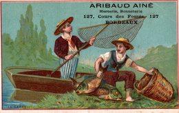 CHROMO  Aribaud Aine Bordeaux A La Peche - Cromos