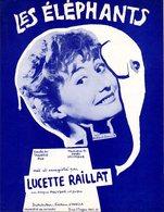 PARTITION HENRI SALVADOR LUCETTE RAILLAT - LES ELEPHANTS - 1958 - EXC ETAT PROCHE DU NEUF - - Autres
