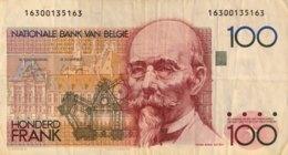 Belgium 100 Francs, P-140 (1978) - Fine+ - Signature 3+9 - [ 2] 1831-...: Belg. Königreich