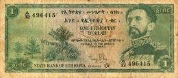 Ethiopia 1 Dollar, P-18 (1961) - Very Good - Aethiopien