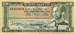 Ethiopia 1 Dollar, P-25 (1966) - EF/XF+ - Aethiopien