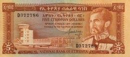 Ethiopia 5 Dollars, P-26 (1966) - Extremely Fine - Aethiopien