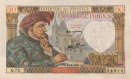 France 50 Francs, P-93 (24.4.1941) - EF/XF+ - Fayette 19.09 - 1871-1952 Antichi Franchi Circolanti Nel XX Secolo