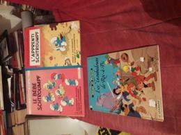 Lot 3 Bd Peyo Le Bebe  Schtroumpfs(1984)  L'apprenti Schtroumpf(1989)johan Et Pirlouit 15(1995) - Lots De Plusieurs BD