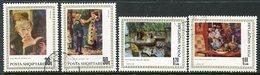 ALBANIA 1991 Renoir Anniversary Set Used.  Michel 2466-69 - Albanie