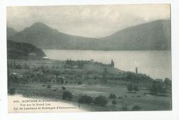 74 Haute Savoie - Menthon St Bernard Vu Sur Gd Lac Col De Leschaux Et Montagne D'entrevernes Ed Abem - France