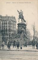 Lille Afchain(petit éditeur) Beau Plan Statue De FaidherbeTBE Peu Courant - Lille