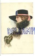 Jeune Femme, Chien Et Sucre. Signée Nanni. 1913 - Non Classificati