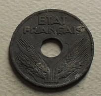 1941 - France - 20 CENTIMES, ETAT FRANCAIS, Zinc, Type 20, Lourde, KM 900.1, Gad 321 - France