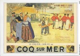Reproductie Prent - Coq Sur Mer / De Haan - La Plage Boisèe Et Fleurie - Other