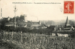 Cinq Mars La Pile * Vue Générale Du Château Et La Vallée De La Loire * éolienne Moulin - France