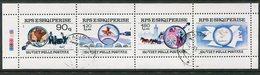 ALBANIA 1990 Stamp Anniversary Used .  Michel 2435-37 - Albanie