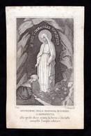Incisione, Santino: MARIA SS. DI LOURDES - XIX Sec., - RB - Mm.: 73 X 117  - RI-INC045 - Religión & Esoterismo