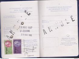 Au Plus Rapide Passport Passeport Timbre Fiscal France Nombreux Visas Sénégal Gambie Albanie ... Excellent état - Fiscali