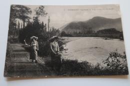 CPA Animée - BARBAZAN (31) - Les Bords De La Garonne à La Passerelle - 1914 - Barbazan