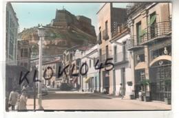Espagne - MONZON -  Avenida General Mola - Animé  - Ancienne Forteresse Templière -  CPSM Couleur N° 30 Généalogie - Huesca