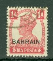 Bahrain: 1942/45   KGVI     SG41     1a    Used - Bahrain (...-1965)