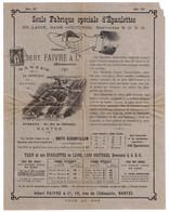 SAGE 1c SEUL SUR CIRCULAIRE PUBLICITAIRE (ENVOYÉ SOUS BANDE) PUBLICITÉ ALBERT FAIVRE FABRIQUE EPAULETTES NANTES - 1877-1920: Periodo Semi Moderno